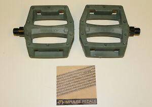 "Mission Impulse PC BMX Platform Pedals -  9/16"" -  Army Green - Nylon/Composite"