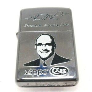 Vintage 2016 Zippo Case Knives President Sealed Unfired Chrome Finish