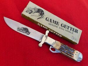 """Parker Japan Made STAG GAME GETTER K119 6.25"""" folding safety knife dg"""