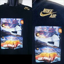 NIKE Air Force 1 Sweatshirt Gold Label Sewn EXCLUSIVE  Sweater Black ULTRA RARE