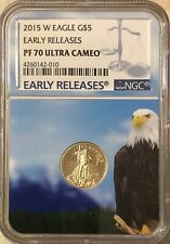 2015 W NGC PF 70 ULTRA CAMEO $5 Gold American Eagle PROOF FREE SHIPPING