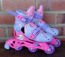 Girls Adjustable Skate Sparkle Party 8.5-12 M Kid + Free Protective Pads