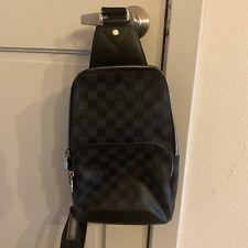 LOUIS VUITTON Avenue Sling Bag backpack bag damier graphite men 100% Authentic