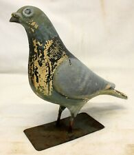 antique Pigeon / Dove Statue ~ Hand Made Collectible Bird Original Paint Patina