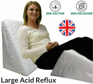 Large Wedge Pillow Acid Reflux Flex Support Bed with Luxury Quilted Cover