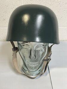 WWII German Fallschirmjager Paratrooper M38 Steel Helmet Leather Liner Reenactor