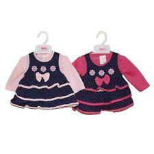 Baby C  Set Shirt & Trägerkleid **Blümchen** Gr.56-62 Pink-Blau  NEU