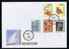 KOSOVO Nr.11-15 SCHMUCK-FDC ESST 2.5.2002 ME 14,-++ !!! (135491)