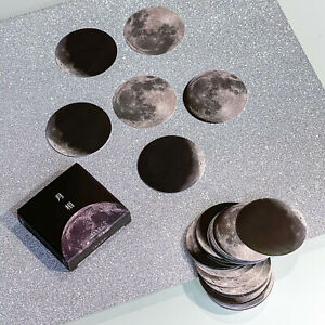 Box Of Lunar Cycle Stickers, Moon Phases