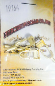 Precision Scale S #19164 Steps, Caboose, Westside Style (Brass Castings)