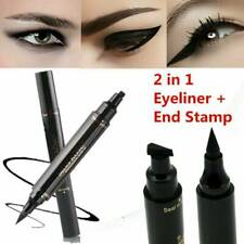 2IN1 Winged Eyeliner Stamp Waterproof Women Cosmetic Eye Liner Pencil Liquid