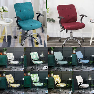 2PCS/Set Stretch Office Chair Cover Computer Rotate Seat Cushion Backrest Cover