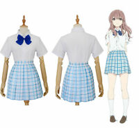 Anime A Silent Voice 聲の形  Shouko Nishimiya Shoko Cosplay Costume Skirt Suit