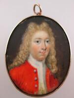 English 18th Century Miniature Portrait Prince Charles Edward Stuart Circa 1750