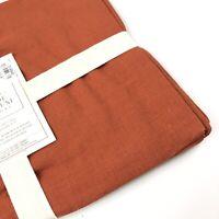 Williams Sonoma Solid Linen Placemats Set Of 4 14x20 Pumpkin Burnt Orange