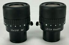 Leica Microscope 10x21b Stereo Surgical Eyepieces Pair