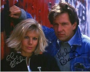 Television Autograph: GLYNIS BARBER & MICHAEL BRANDON (Dempsey) Signed Photo