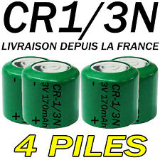 4 PILES ACCUS BOUTON CR1/3N 170mAh LITHIUM 3V 2L76 BATTERIE BATTERY