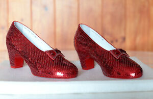 Replica Size 5B Hand Sewn Ruby Slippers Judy Garland Dorothy in The Wizard of Oz
