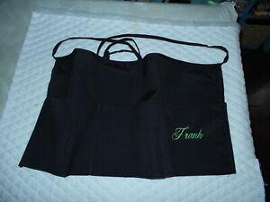 Black  Apron Embroider Server Waitress Apron  Diner Name FREE Lady Pizazz