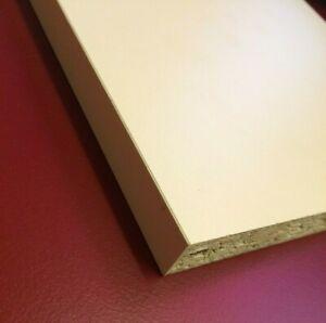 15mm Cream Melamine Faced Chipboard Shelving Board various widths 1200mm Lengths