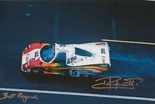 Jean Ragnotti foto firmada de mano 12x8 Le Mans