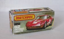 Repro Box Matchbox Superfast Nr.62 Chevrolet Corvette