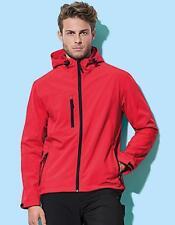Mens Active softest Shell Hooded Jacket | Stedman