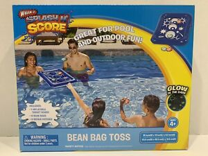 Splash N Score Bean Bag Toss Inflatable Pool Toy. Glow In The Dark New In Box