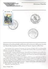 ITALIA 1999 NOSTRA SIGNORA DELLE NEVI  BOLLETTINO COMPLETO DI FRANCOBOLLI FDC