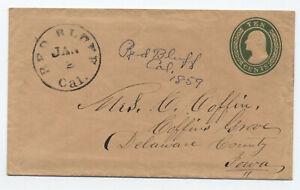 1859 Red Bluff CA 10 cent Nesbitt U16 [6026.28]