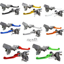 Motorcycle Brake Master Cylinder Clutch Perch Levers Kit For Honda CR125R CR250R