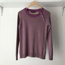 Banana Republic Cashmere & Wool Blend Striped Knitted Jumper, AU Size 10 / Small