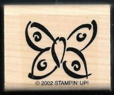 Butterfly Drawn Design Flying Insect Stampin' Up! 2002 wood Hobby Rubber Stamp