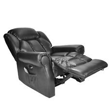 Hainworth Electric Recliner Chair With Heat and Massage Black