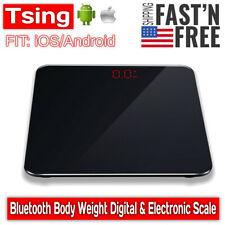 Electronic Smart Digital Bathroom Weight Fat Scale Body BMI Mobile Bluetooth US