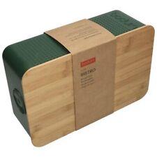 Updated Small BODUM Bistro Bread Bin w Integrated Cutting Board Lid, GREEN, BNIB