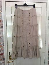 river island Size 8-10 Beige Linen Maxi Skirt
