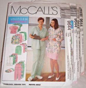 McCall's 9644 Uniform Essentials Tops Jacket Skirt Vest Pants Hat choice Size