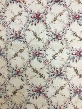 19th Century French Floral Chintz Printed Fabric