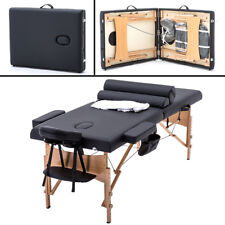 BestMassage 2 Fold Portable Massage Table w/Free Carry Case Facial Spa Bed TSF2