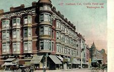 Oakland,CA.Washington Street & Crellin Hotel,Horse Drawn Wagon,Alameda Co.c.1909