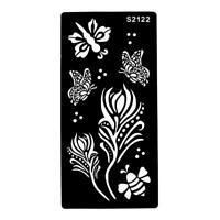 Stencils for Henna Tattoos Self-Adhesive Butterfly Body Art Temporary Tattoo