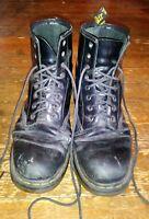 Doc Dr Martens Air Wair Mens 11 Womens 12 Black Leather Goth Work Boots 10962