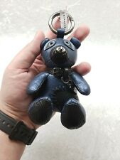 BRAND NEW Coach F56743 Ace Leather Metallic Blue Teddy Bear Bag Charm Key Fob