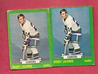 2 X 1973-74 OPC # 179 CANUCKS BOBBY LALONDE  CARD