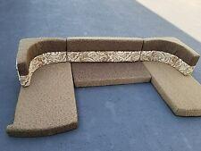 "6 pc RV Trailer Camper Popup 87"" U-shaped Dinette Booth Cushion Set"