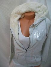victoria secrets pink BLING FUR HOODIE JACKET LIMITED HOODIE NWT! SMALL