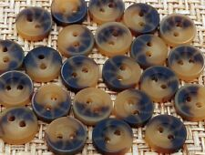 100 Cute Heather Brown 9mm Plastic Round Buttons for Baby/Dolls/Cardigan