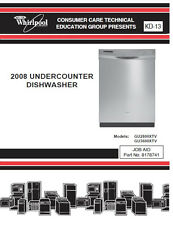 One Of Various Whirlpool & Kitchen Aid Dishwasher Service/Repair Manuals